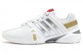 adidas D67104 Adipowner Barricade 白色男子网球鞋