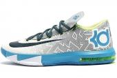 NIKE 599424-009  KD VI 杜兰特6代黑灰色男子篮球鞋