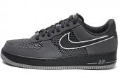 NIKE 488298-044  Air Force 1 空军一号黑灰色男子休闲板鞋