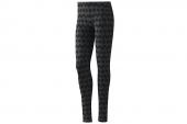 adidas NEO F78971 黑灰色女子波点图案紧身打底裤