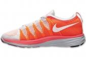 NIKE 620465-018 Flyknit Lunar 2 橙白色男子跑步鞋