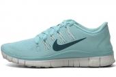 NIKE 580591-431 Free 5.0+ 赤足系列浅蓝色女子跑步鞋
