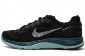 NIKE 599395-011  WMNS Lunarglide+ 5 黑蓝色女子跑步鞋