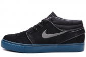 NIKE SB 443095-084 Zoom Stefan Janoski Mid 黑色男子休闲板鞋