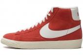 NIKE 518171-607 Blazer Mid Suede Vntg 开拓者红色女子休闲板鞋
