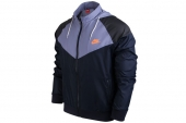 NIKE 596278-473  As RU Heritage Windrunner 黑紫色男子运动夹克