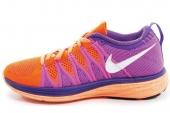 NIKE 620658-815 Flyknit Lunar 2 紫橙色女子跑步鞋