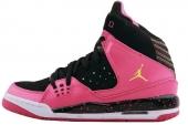 Jordan 439655-048 SC-1 GS 乔丹黑粉色女子篮球鞋