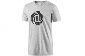 adidas D83162 Rose Logo Tee 2 罗斯灰色男子针织T恤