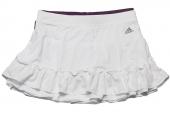 adidas D82181 Fleur Revskirt 白色女子网球裙子