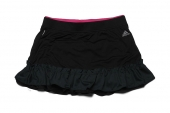adidas D82182 Fleur Revskirt 黑色女子网球裙