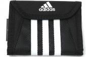 W56981 adidas 三条纹黑色中性钱包