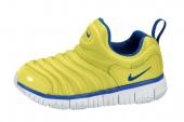 343738-742 Nike Dynamo Free (PS) 毛毛虫鞋小童版音速黄