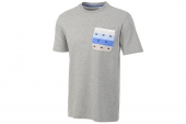 F81868 adidas三叶草灰色男子针织短袖T恤