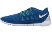 642198-401 Nike Free 5.0 赤足系列军蓝色男子跑步鞋