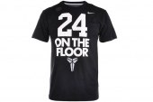 611281-010 Nike 24 On The Floor 科比黑色男子针织短袖T恤