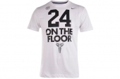 611281-100 Nike 24 On The Floor 科比白色男子针织短袖T恤