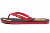 636545-076 Nike Solarsoft Thong 2 Soccer 黑红色男子拖鞋