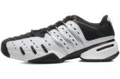 M22455 adidas Barricade V Classic 狼牙系列黑白色男子网球鞋