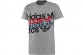 F80946 adidas G Linear Clash 三叶草灰色男子针织短袖T恤