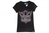 F82115 adidas G Wings OF Love 三叶草黑色女子休闲短袖T恤