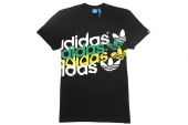 F80947 adidas G Linear Clash 三叶草黑色男子针织短袖T恤