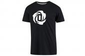 D83163 adidas Rose Logo Tee 2 罗斯系列黑色男子T恤