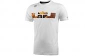 611246-100 Nike詹姆斯系列白色男子短袖T恤