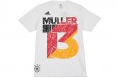 F77002 adidas Mueller Tee 德国队13号穆勒世界杯T恤