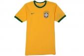 612168-703 Nike黄色巴西队主场T恤