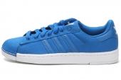 D65611 adidas Superstar II Lite 贝壳头简版蓝色男子休闲板鞋