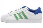 G99861 adidas Superstar II 三叶草贝壳头亮白男子休闲板鞋