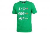 F95182 adidas绿色男子足球图案针织短袖T恤