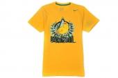 608611-703 Nike巴西队黄色男子足球短袖T恤