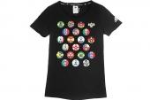 M39461 adidas WC Winner Tee W 黑色女子短袖T恤