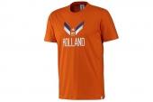 F39504 adidas世界杯款橙色荷兰队球迷男子短袖T恤