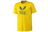 F39492 adidas世界杯款巴西队球迷黄色男子短袖T恤