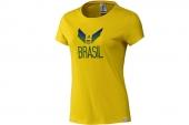 F39493 adidas巴西队球迷版女子短袖T恤