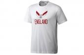 F39519 adidas世界杯款白色英格兰球迷男子短袖T恤