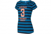 F77834 adidas三叶草和蓝色条纹女子针织短袖T恤