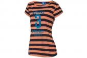 F77833 adidas三叶草黑橙色女子针织短袖T恤