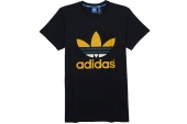F78625 adidas Trefoil Oddity 三叶草黑色男子短袖T恤