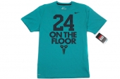 611281-383 Nike 24 On The Floor 科比绿色男子针织短袖T恤