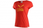 F39515 adidas Spain Tee W 西班牙红色女子短袖T恤