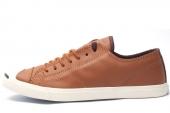 145596 Converse Jack Purcell 皮革版薄底款男子硫化鞋