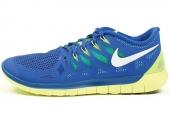 642198-400 Nike Free 5.0 赤足系列钴蓝色男子跑步鞋