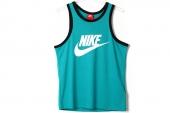 576606-383 Nike蓝绿色男子运动背心