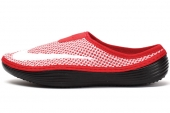 555346-610 Nike Solarsoft Mule 红黑色男子鸟巢拖鞋
