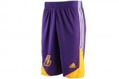 F87744 adidas Wntr Hps Revsho 湖人紫黄色男子篮球短裤
