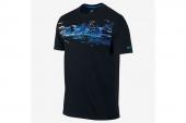 618874-010 Nike Lebron Foundation Logo 詹姆斯黑色男子针织短袖T恤